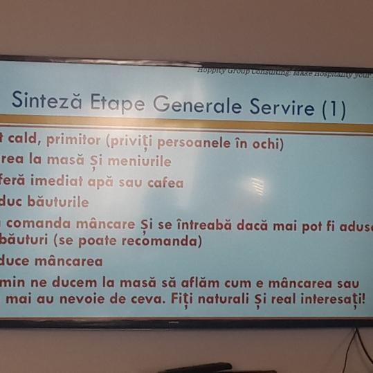 Reguli de baza ale Servirii in restaurante